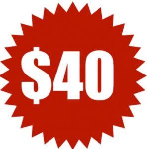 登録ボーナス$40