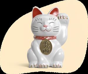 ラッキーデイズのマスコット猫
