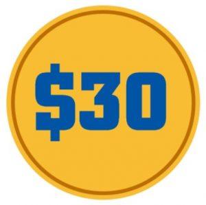 ユニークカジノの登録ボーナス$30