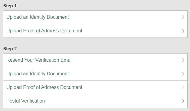 ベット365のアカウント認証