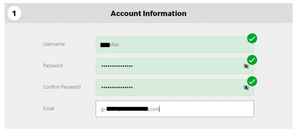 ベットウェイ登録方法1