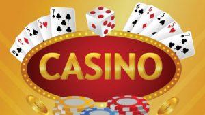 カジノ、ダイスとチップとカード